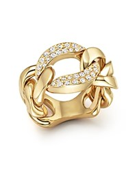 Roberto Coin 18K Yellow Gold Oro Classic Diamond Link Ring