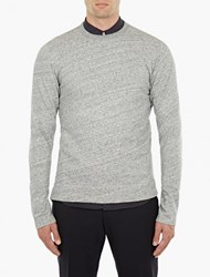 Officine Generale Grey Fleece Sweatshirt