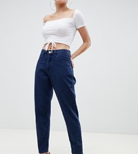 Missguided Petite Mom Jean In Blue