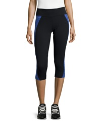 The Balance Collection Summer Breeze Spliced Capri Leggings Royal Blue