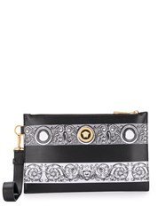 Versace Medusa Baroque Paneled Clutch Black