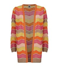 M Missoni Striped Wave Lurex Cardigan Female Multi