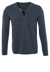 Marc O'polo Serafino Long Sleeved Top Chalk Blue Dark Blue
