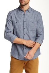 14Th And Union Long Sleeve Flannel Grindle Shirt Blue