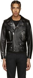 Saint Laurent Black Classic Monogram Motorcycle Jacket