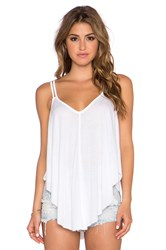 Free People Fantasy Jersey Cosmic Triangle Top White