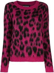 Boutique Moschino Leopard Print Jumper Pink