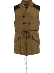 Ann Demeulemeester Double Breasted Gilet Brown