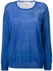 Erika Cavallini Semi Couture Fine Knit Sweater Blue