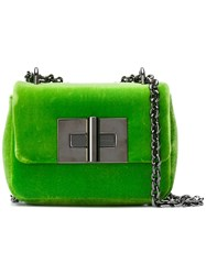 Tom Ford Natalia Velvet Crossbody Bag Green