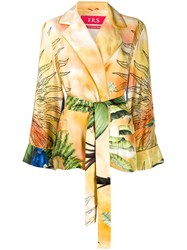 F.R.S For Restless Sleepers Jungle Print Silk Jacket 60