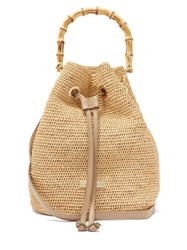 Heidi Klein Savannah Bay Raffia Bucket Bag Beige