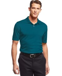 John Ashford Short Sleeve Solid Textured Performance Polo Iced Teal
