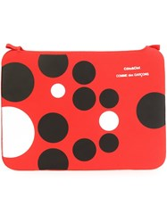 Comme Des Garcons Wallet Polka Dot Purse Red