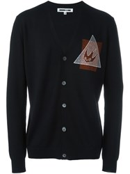 Mcq By Alexander Mcqueen 'Swallow Glyph' Cardigan Black