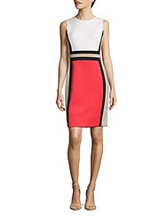 Calvin Klein Colorblock Sheath Dress Watermelon