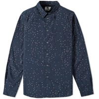 Paul Smith Tailored Fit Heart Print Shirt Blue