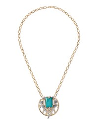 Jules Smith Designs Jules Smith Jewel Pendant Chain Necklace Blue
