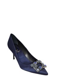 Roger Vivier 65Mm Floral Swarovski Silk Satin Pumps