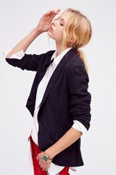 Free People Womens Linen Blazer