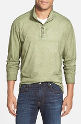 True Grit Washed Long Sleeve Pullover Olive Branch