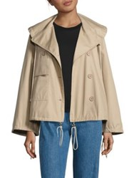 See By Chloe Cotton Swing Jacket Straw