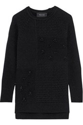 Simone Rocha Woman Bead Embellished Wool And Cashmere Blend Sweater Black