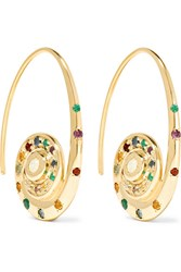 Venyx Pharaonys 18 Karat Gold Multi Stone Earrings