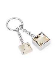 Proenza Schouler Ps11 Pyramid Keychain Ring Silver