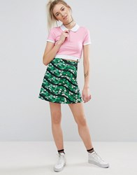 Illustrated People Snake Sequin Skirt Green