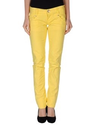 Two Women In The World Denim Pants Yellow