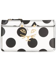 Charlotte Olympia Dots Print Wallet White