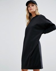 Noisy May Longline Sweat Dress Black