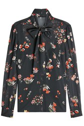 Red Valentino R.E.D. Pussy Bow Printed Silk Blouse