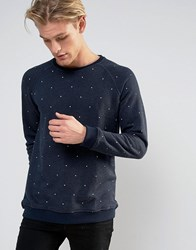 Pull And Bear Pullandbear Jumper In Navy With White Specks Navy