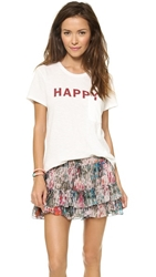 Textile Elizabeth And James Happy Bowery Tee White Henna