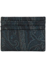 Etro Paisley Card Holder Blue