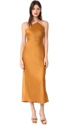 Jason Wu Satin Slip Dress Caramel