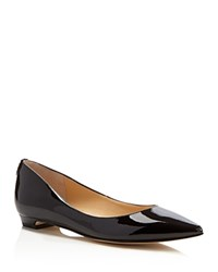 Ivanka Trump Tizzy Patent Pointed Toe Flats Black