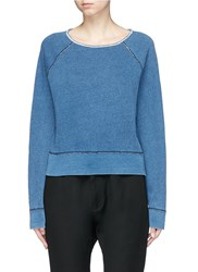 Rag And Bone Boat Neck Sweatshirt Blue