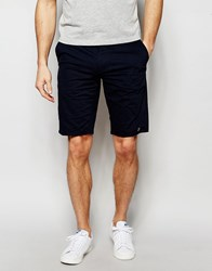 Farah Chino Shorts In Stretch Cotton Navy