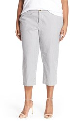 Plus Size Women's Sejour 'Addison' Stretch Crop Pants