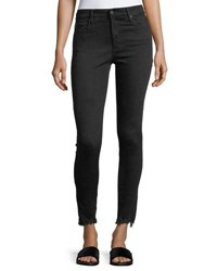 Ag Adriano Goldschmied The Farrah Ankle High Rise Skinny Jeans Black