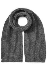 Closed Wool Alpaca Scarf Grey