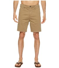 Vissla No See Ums No Side Seam Twill Chino Walkshorts 19 Light Khaki