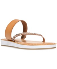 Carlos By Carlos Santana Colette Embellished Flatform Sandals Women's Shoes Brulee