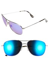 Women's Maui Jim 'Cliff House Polarizedplus' 59Mm Metal Aviator Sunglasses