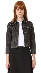 Marc Jacobs Denim Shrunken Jacket Black