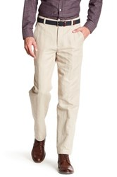 Brooks Brothers Clark Open White Dress Pant Beige