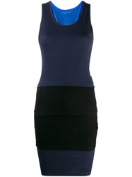 Y Project Fitted Tank Dress Blue